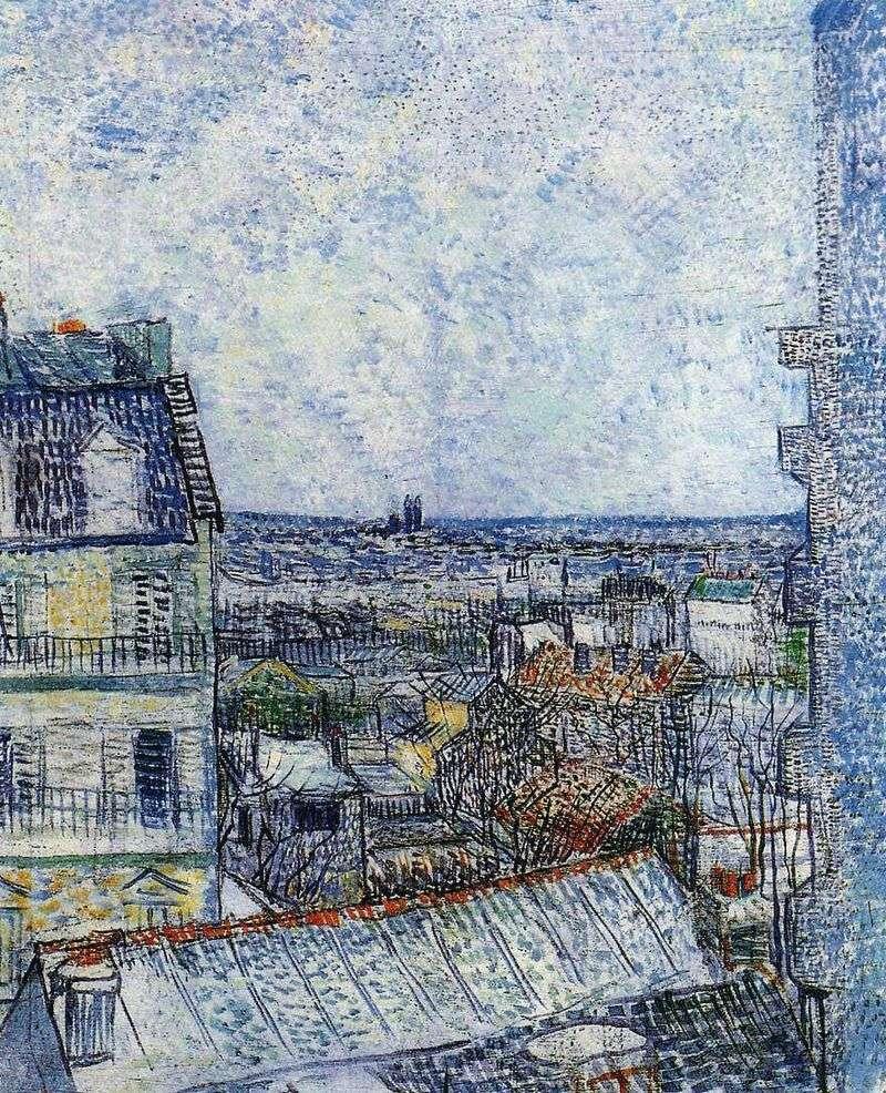 Вид на Париж з номера Вінсента на Рю Лепік II   Вінсент Ван Гог