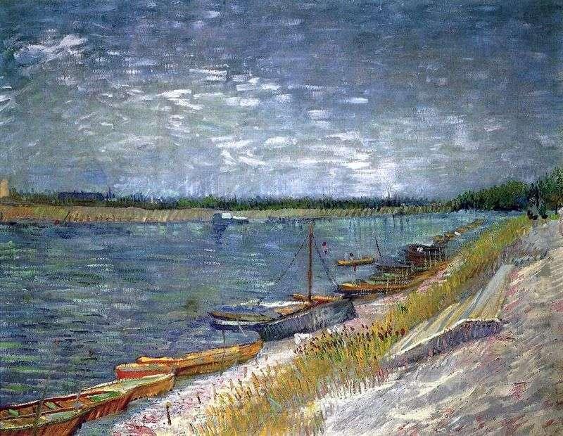 Вид на річку з весловими човнами   Вінсент Ван Гог