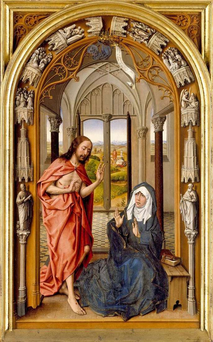 Явлення Христа Марії   Хуан де Фландес