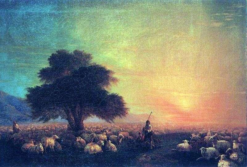 Отара овець   Іван Айвазовський