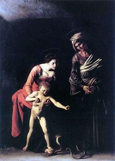 Мадонна зі змією   Мікеланджело Мерізі да Караваджо