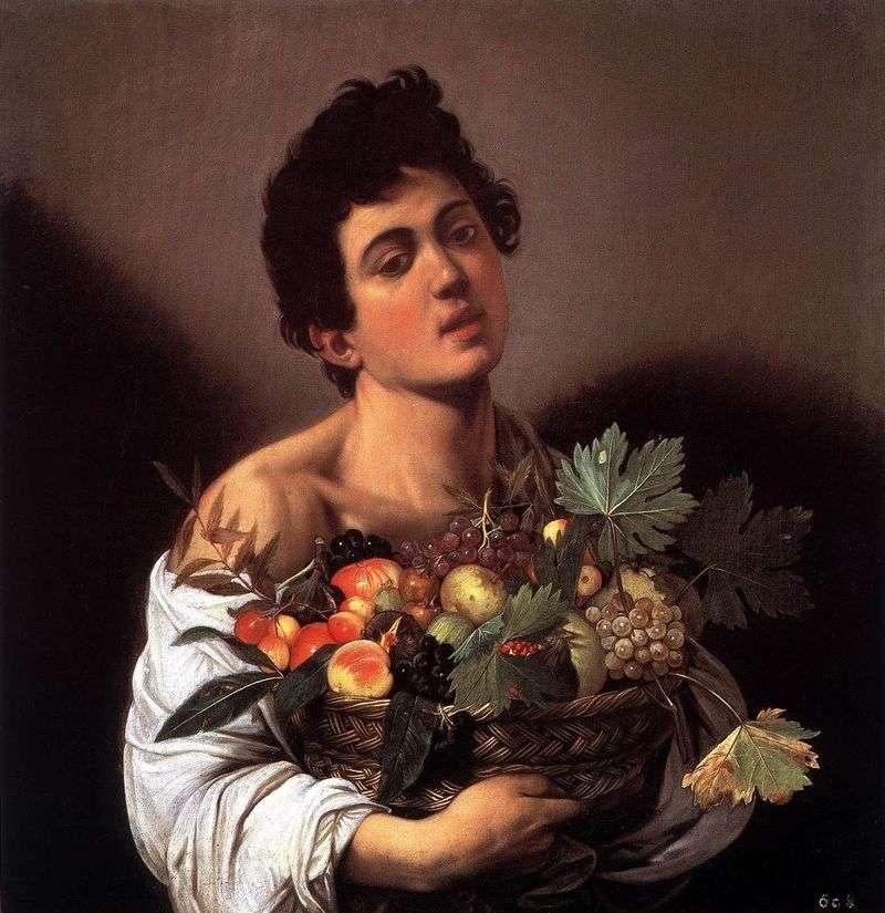 Хлопчик з кошиком фруктів   Мікеланджело Мерізі да Караваджо
