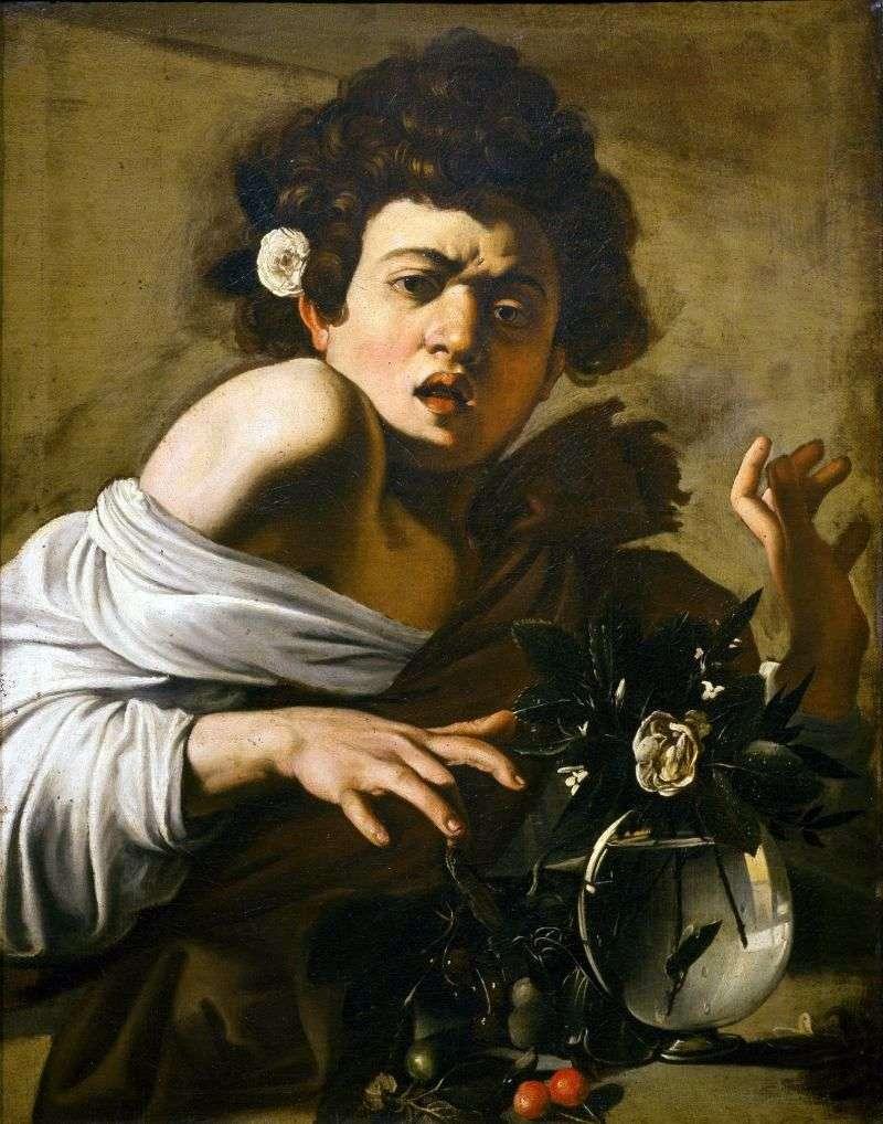 Мальчик, укушенний ящерицей   Микеланджело Меризи да Караваджо