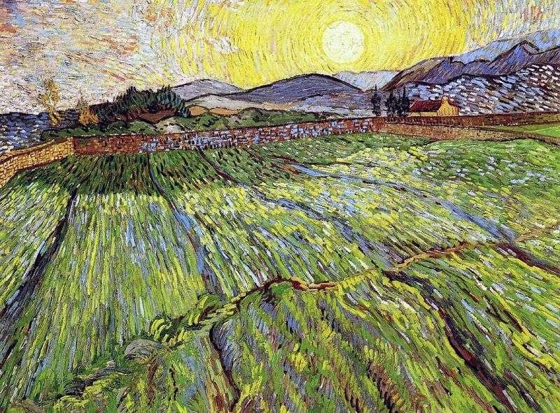 Пооране поле з висхідним сонцем   Вінсент Ван Гог