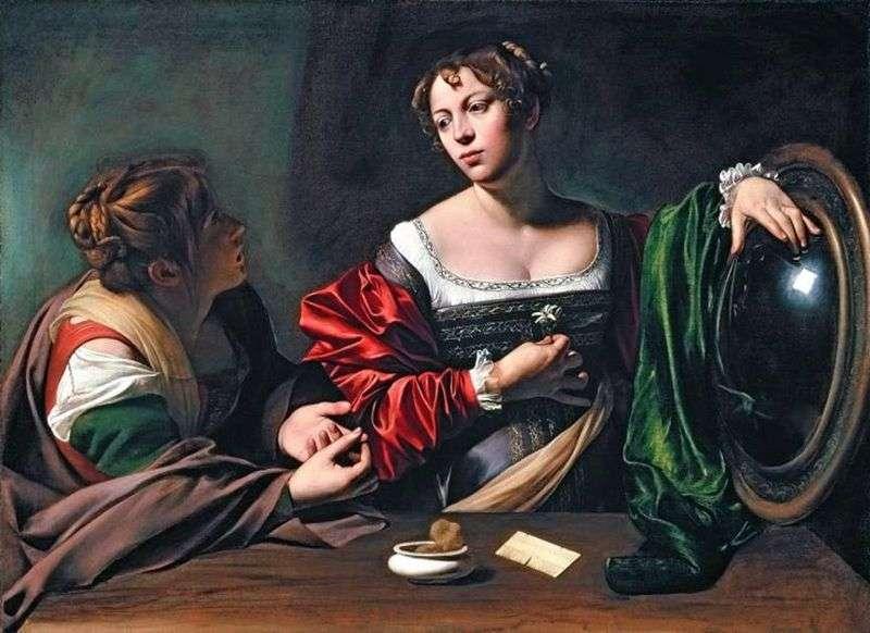 Марта і Марія Магдалина   Мікеланджело Мерізі да Караваджо