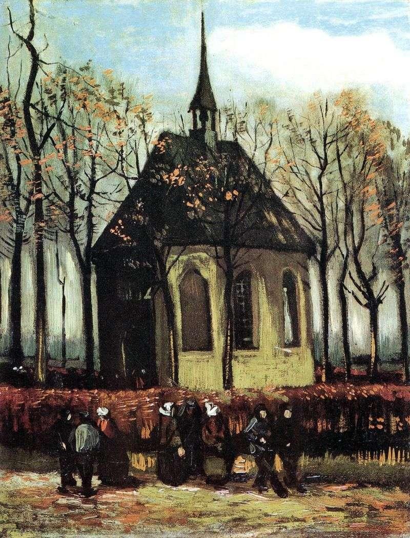 Вихід з протестантської церкви в Нюэнене   Вінсент Ван Гог