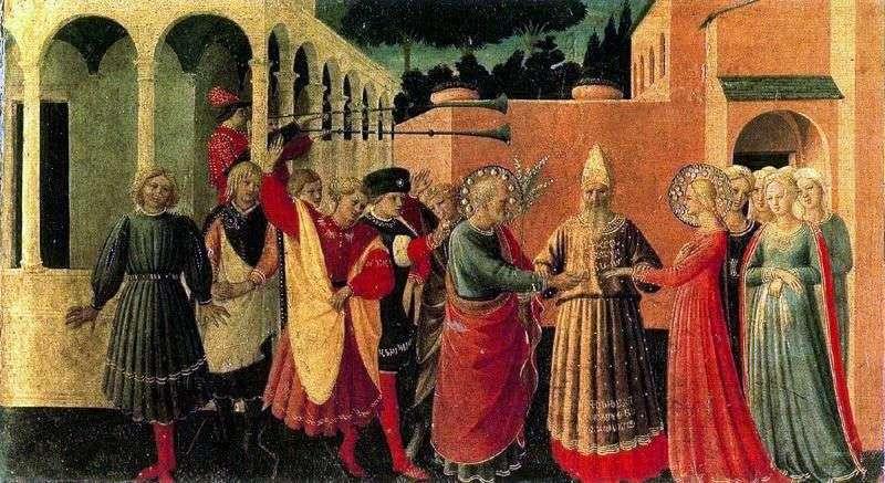 Одруження Діви Марії   Фра Анджеліко