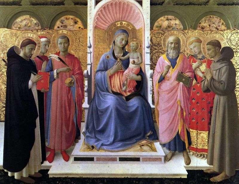 Мадонна з Немовлям і святими   Фра Анджеліко