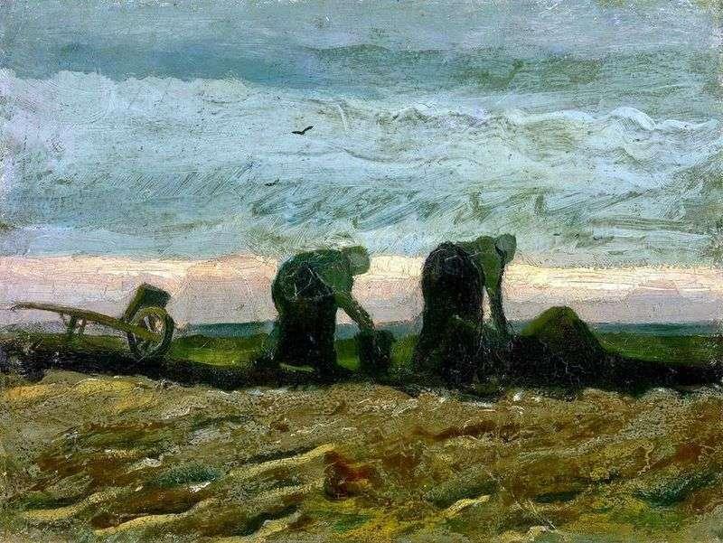 Дві жінки на вересковой пустки   Вінсент Ван Гог