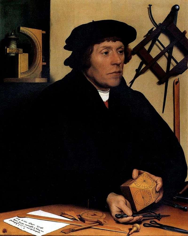 Портрет астронома Николуса Кратцера   Ганс Гольбайн