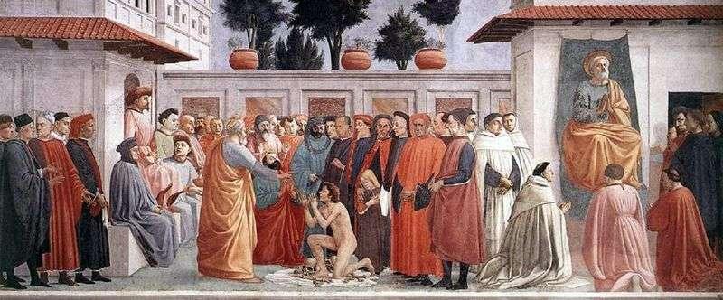 Воскресіння сина Теофіла   Мазаччо і Філіппіно Ліппі