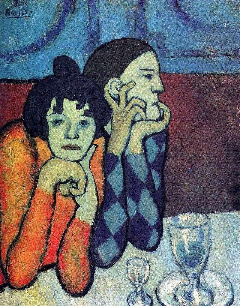 Арлекін і його подружка   Пабло Пікассо