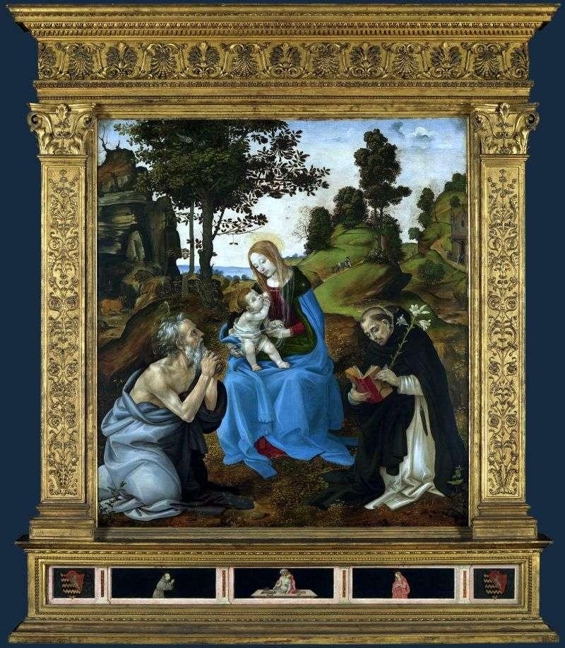 Мадонна з Немовлям і святими Ієроніма і Домініком   Філіппіно Ліппі