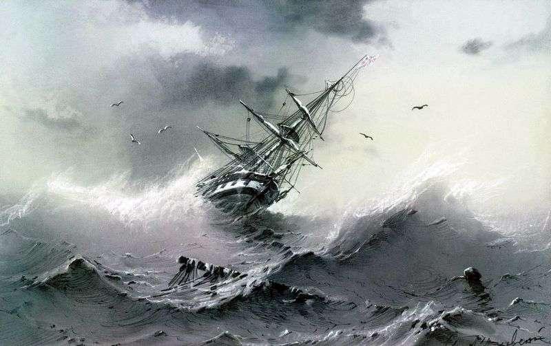Потопаючий корабель   Іван Айвазовський