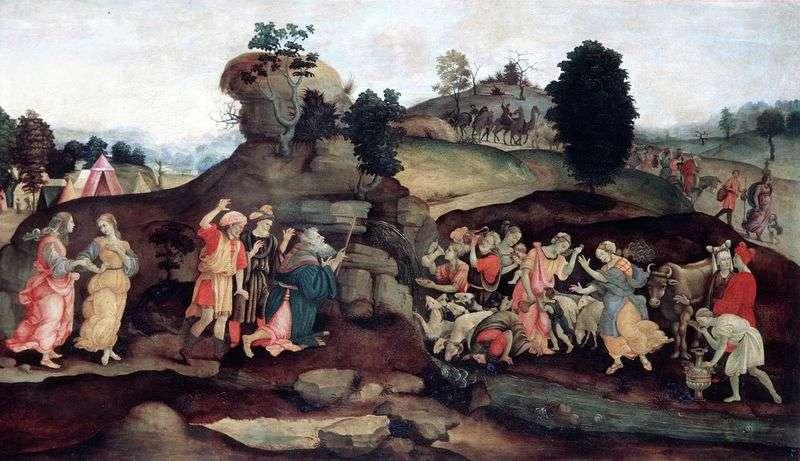 Мойсей, який добуває воду із скелі   Філіппіно Ліппі