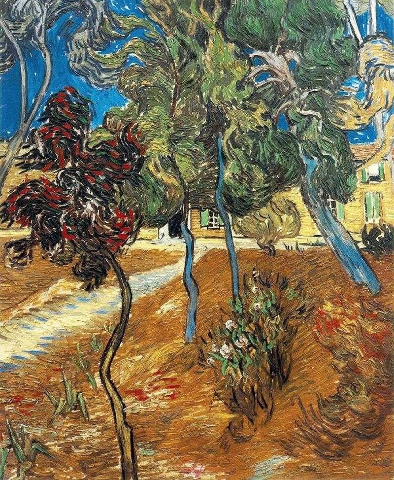 Дерева в саду лікарні Сен Поль   Вінсент Ван Гог