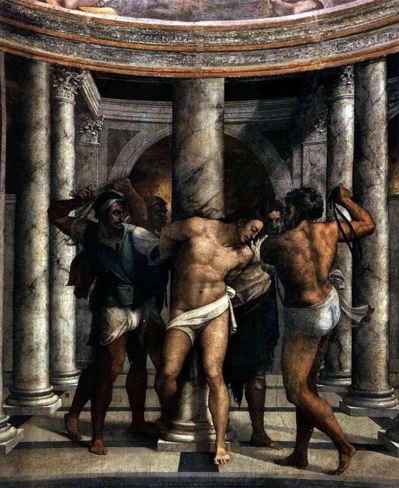 Пьомбо. Бичування Христа   Мікеланджело Мерізі да Караваджо