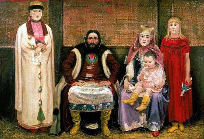 Родина купця в 17 м столітті   Андрій Рябушкін