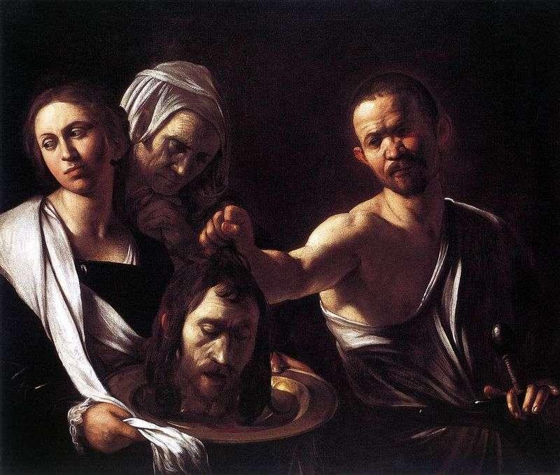 Соломія з головою Іоанна Хрестителя   Мікеланджело Мерізі да Караваджо