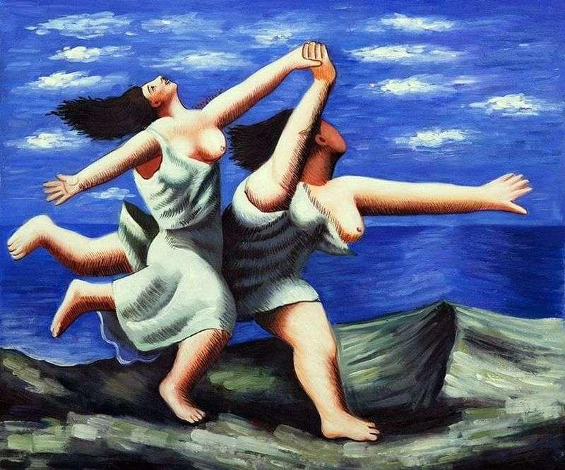 Дві жінки, що біжать по пляжу   Пабло Пікассо