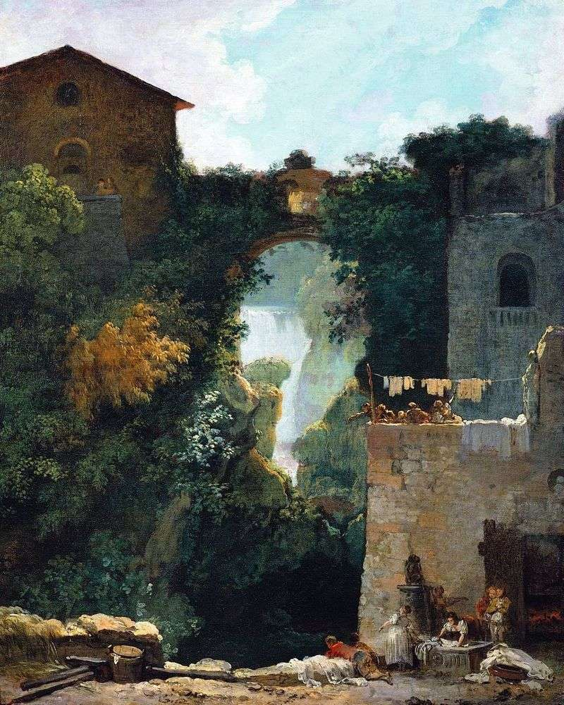 Великий каскад в Тіволі   Жан Оноре Фрагонар