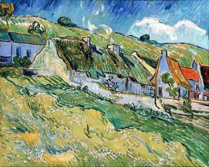 Будиночки з соломяними дахами   Вінсент Ван Гог