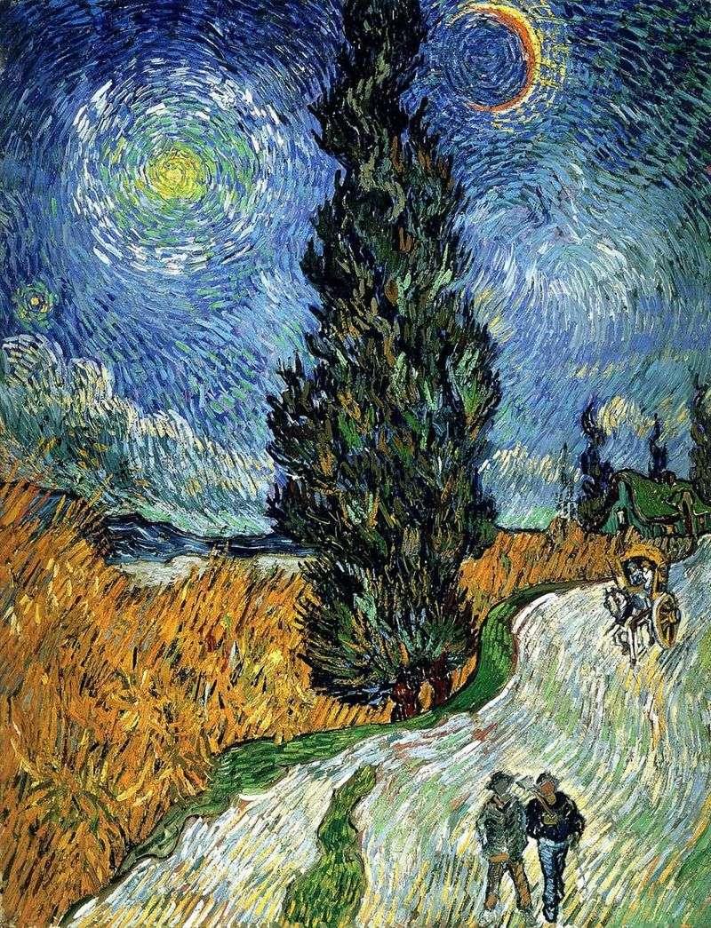 Дорога з кипарисом і зіркою   Вінсент Ван Гог