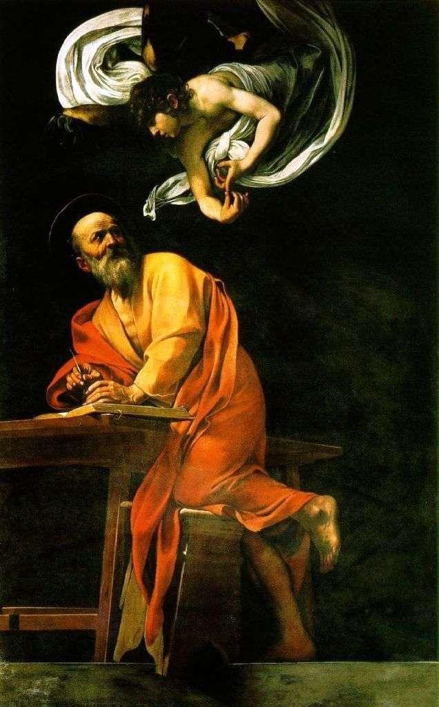 Святий Матфей і ангел   Мікеланджело Мерізі да Караваджо