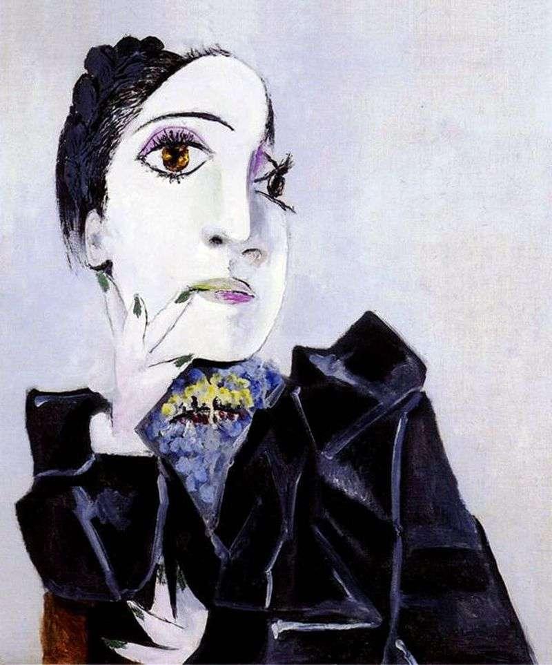 Дора Маар з нігтями зеленими   Пабло Пікассо