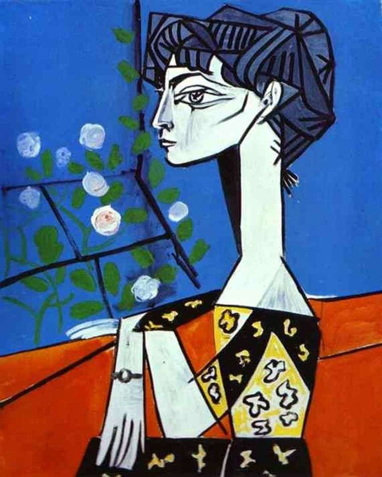 Жаклін з квітами   Пабло Пікассо