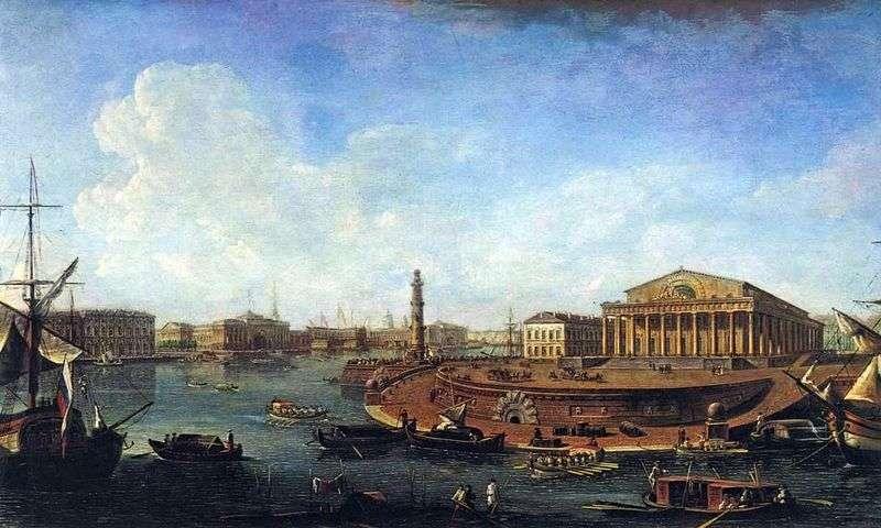 Вид на Біржу і Адміралтейство від Петропавлівської фортеці   Федір Алексєєв