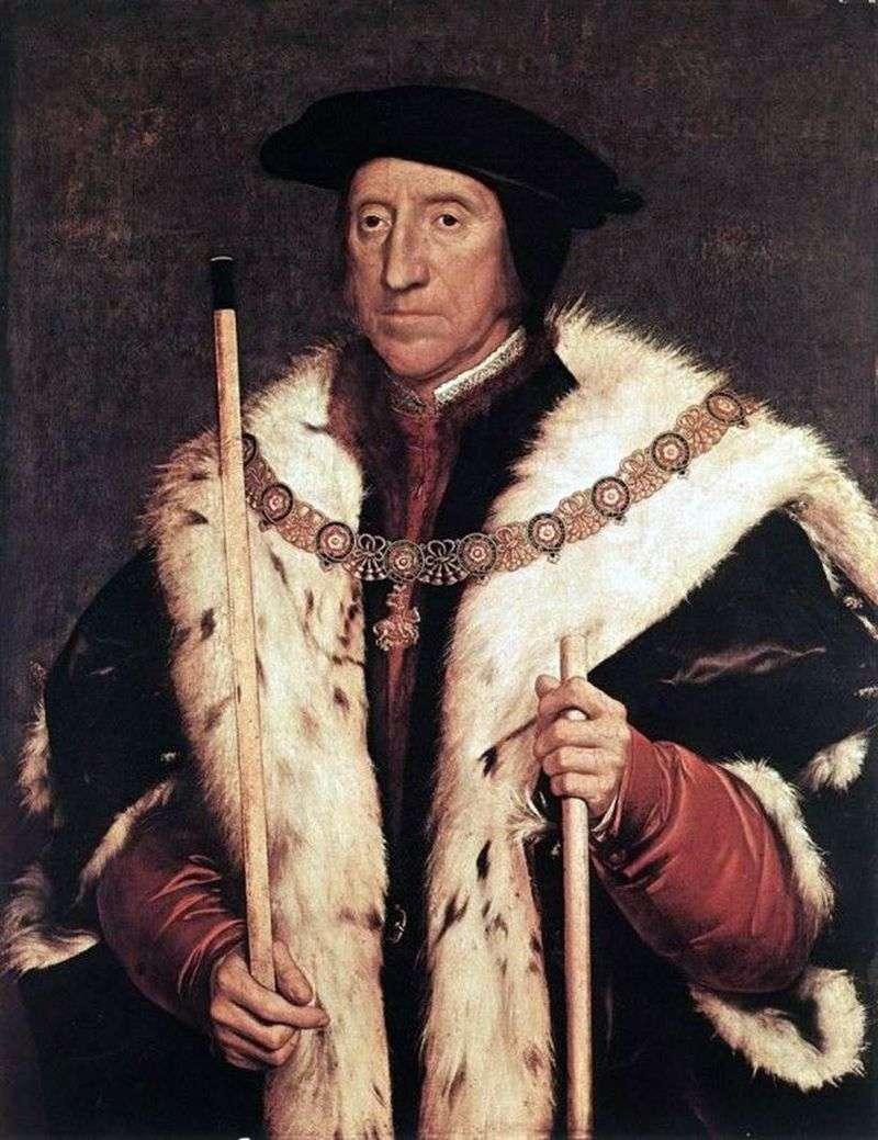 Портрет Томаса Говарда, герцога Норфолка   Ганс Гольбайн
