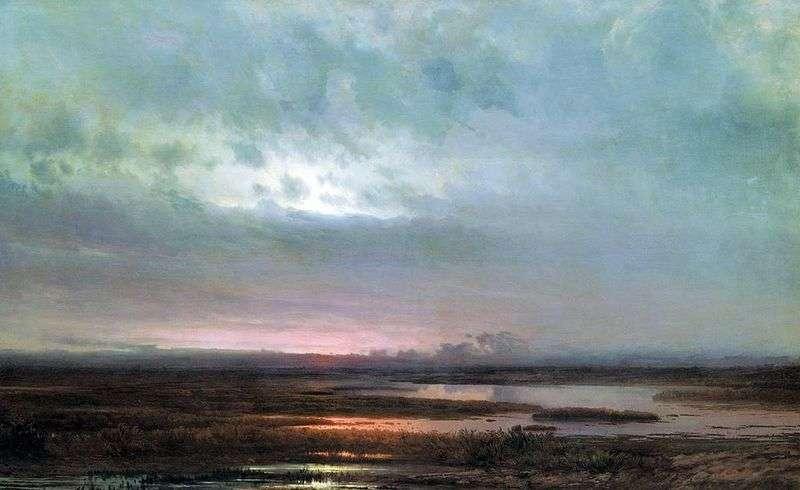 Захід сонця над болотом   Олексій Саврасов