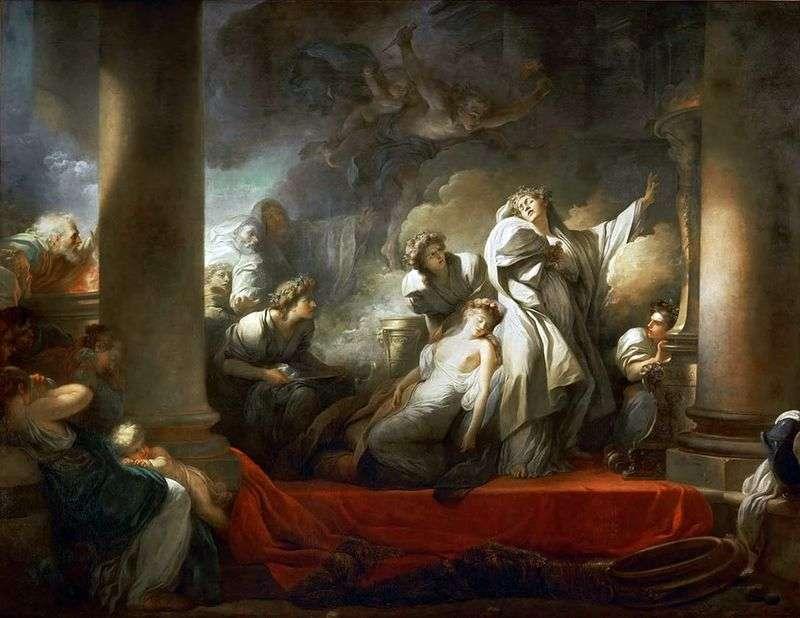 Жрець Корез жертвує собою заради Каллірої   Жан Оноре Фрагонар