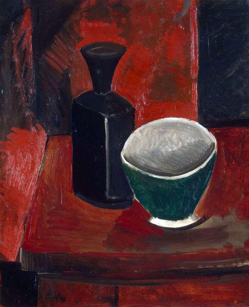Зелена миска і чорна пляшка   Пабло Пікассо