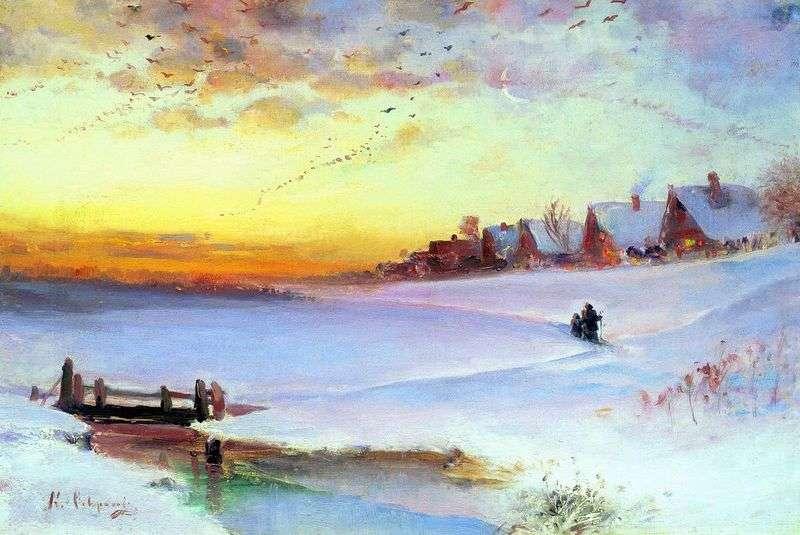 Зимовий пейзаж (Відлига)   Олексій Саврасов