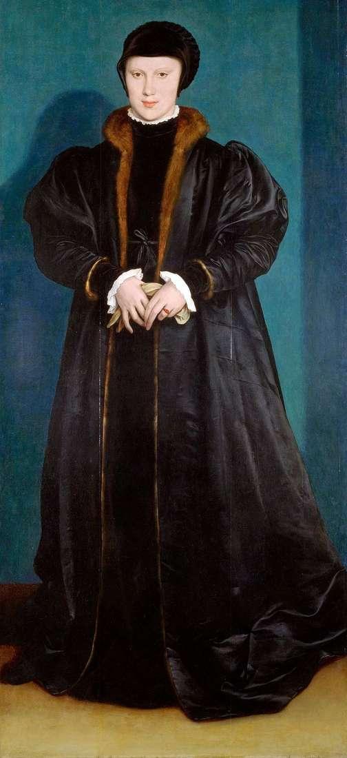 Портрет Христини Датської   Ганс Гольбайн