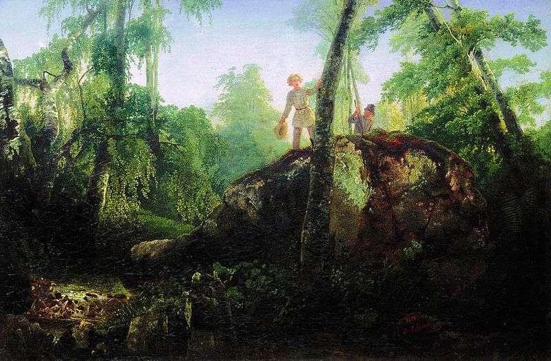 Камінь в лісі біля розливу   Олексій Саврасов