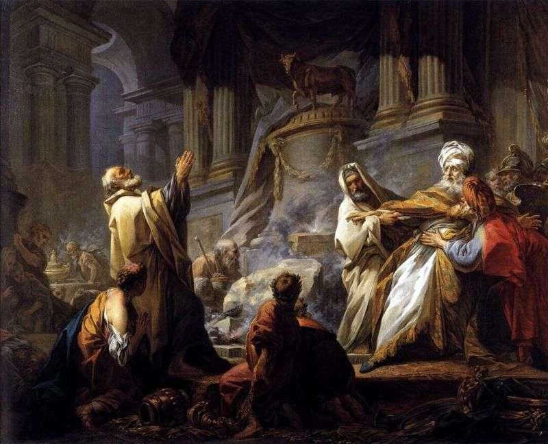 Єровоам приносить жертву ідолам   Жан Оноре Фрагонар