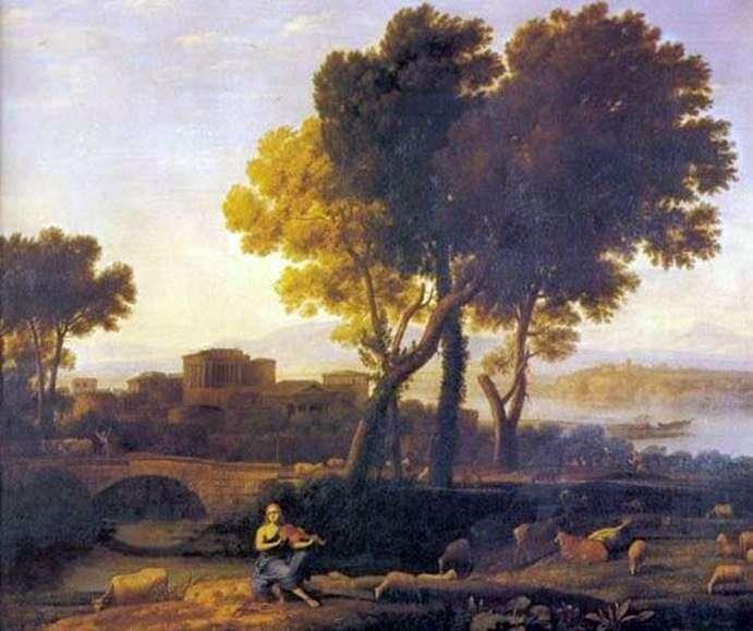 Пейзаж з Аполлоном і Меркурієм   Клод Лоррен