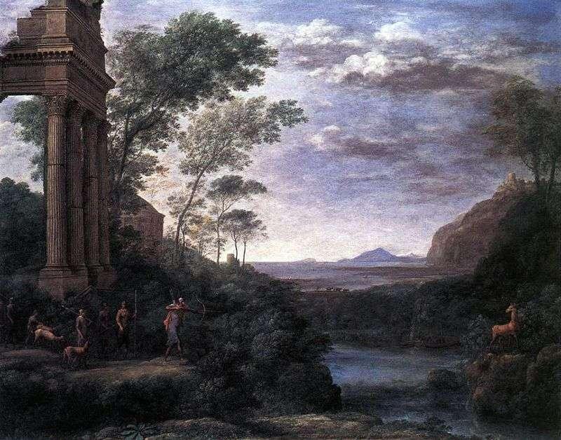 Пейзаж з Асканием, що стріляє в оленя   Клод Лоррен