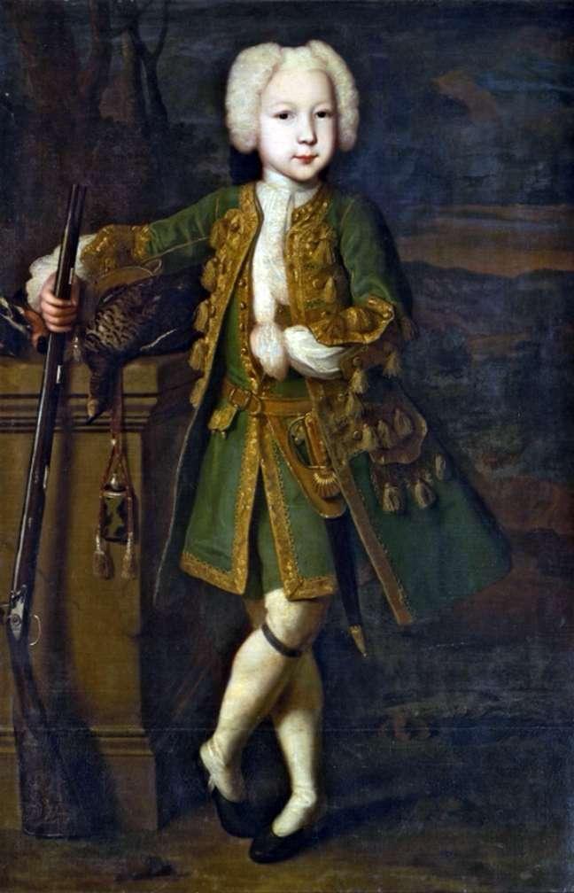 Портрет хлопчика в мисливському костюмі   Луї Каравакк