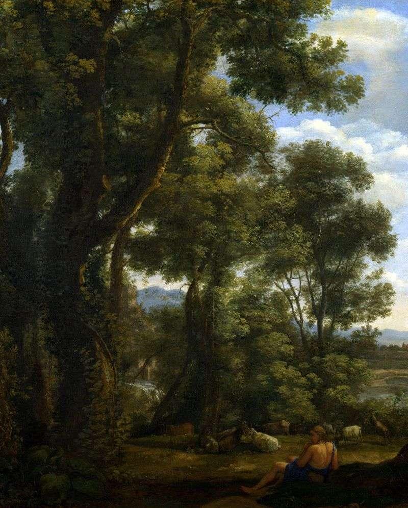 Пейзаж з козопасом і козами   Клод Лоррен