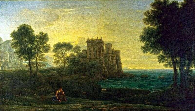Пейзаж з Психеей на тлі палацу Купідона   Клод Лоррен