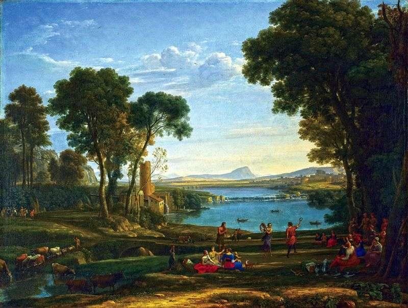 Пейзаж зі сценою одруження Ісаака і Ревеки   Клод Лоррен