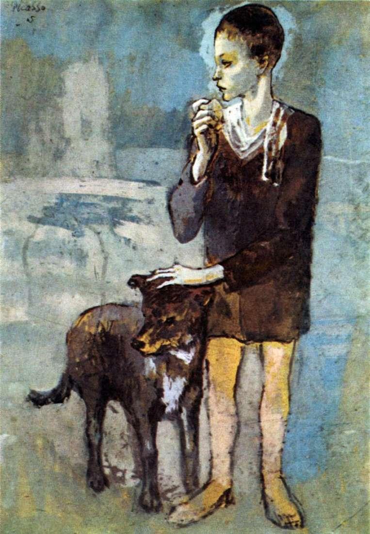 Хлопчик з собакою   Пабло Пікассо