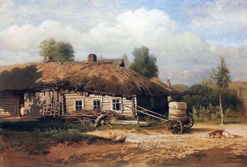 Пейзаж з хатинкою   Олексій Саврасов