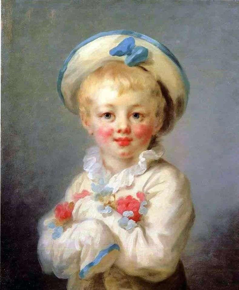 Хлопчик в ролі Пєро   Жан Оноре Фрагонар