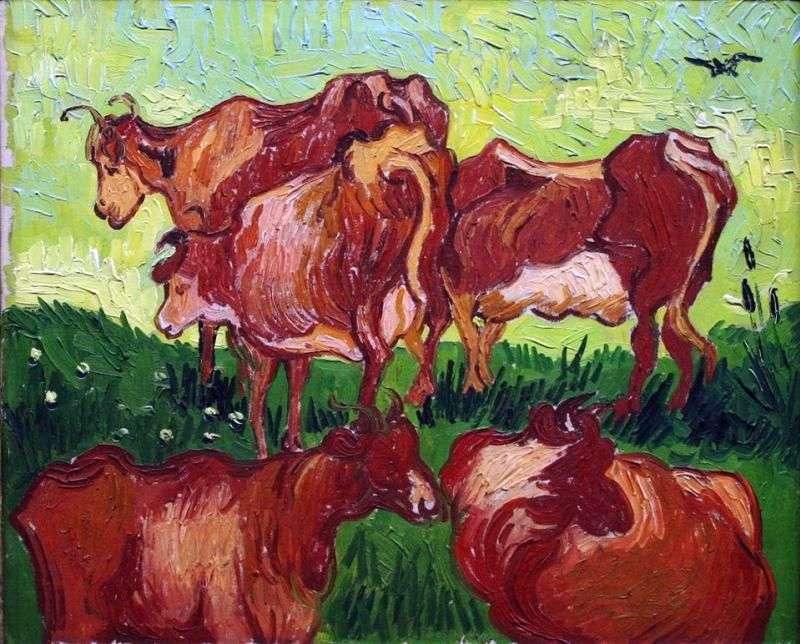 Корови (після Йорданса)   Вінсент Ван Гог