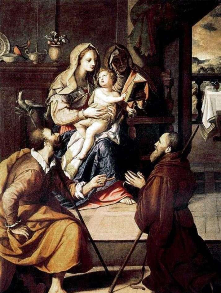 Святе сімейство і кардинал Медічі   Алессандро Аллори